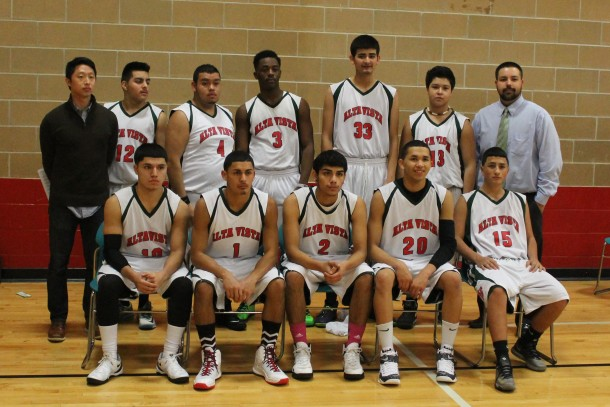 The 2014-15 boys' basketball team defeated the Midland Mustangs on Tuesday.