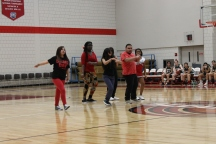 The Dance Club performed as one of the many parts of the halftime entertainment.