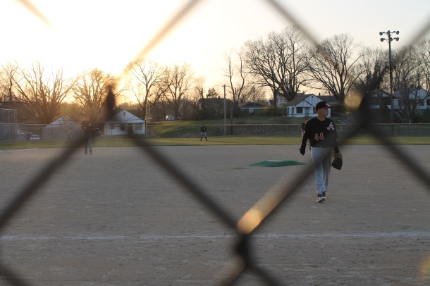 Freshman Armando Ordaz finishes a game earlier this season.