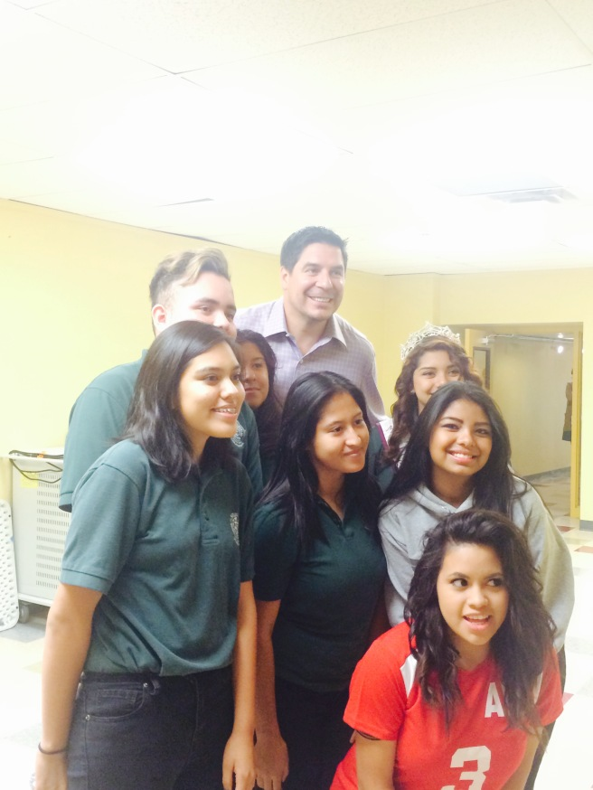 Marcelo Claure, the CEO of Sprint, spoke with AV students.