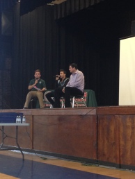 Senior Juan Palmas hosted the Q&A with Prince Royce and Claure.