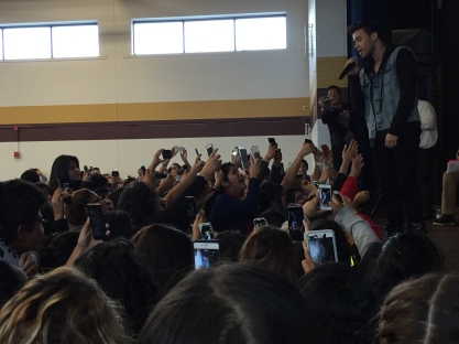 Prince Royce's a cappella serenade thrilled students.