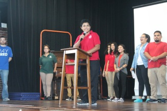 More students, including Junior Alex Gloria, ran for STUCO than in any other year.